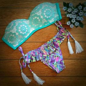 Mujeres Bikini Set Dos -piece Traje De Baño Ropa De Playa B