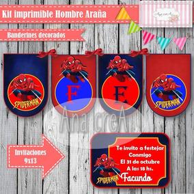 Kit Editable Hombre Araña - Deco - Candy Bar Y Photo Booth