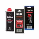 Pack Repuestos Originales Para Zippo Mecha Piedra Y Liquido