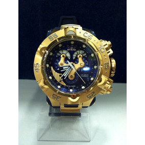 Relógio Luxo Invicta 18530 Subaqua Orig Chron Anal Gold Blue
