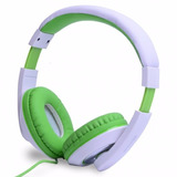 Headset Fone Ouvido Stereo Dc F260 Rosa Ou Verde C Branco