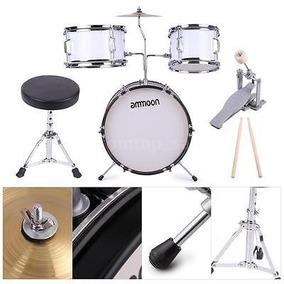 Ammoon 3 Piezas Niños Junior Kit De Batería Percusión Con...