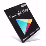 Cartão Google Play Gift Card 30 Reais Br Android Playstore