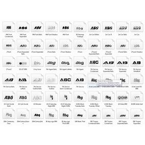 11 Mil Fontes Para Photoshop-illustrator-corel Draw + Gift