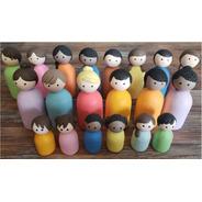 Bonecos Para Constelação Familiar Em Biscuit - 20 Unidades