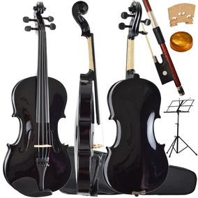 Kit Violino 4/4 Tradicional Preto Perola Sverve Ronsani