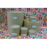 Pote De Carton Tarro D Dulce D Leche 5,5x9cm 1/4kg X20u $115