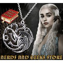 Colar Game Of Thrones Casa Targaryen- Só Na Cor Ouro Velho