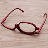 Oculos Para Maquiagem Armação Vermelha + 2.00