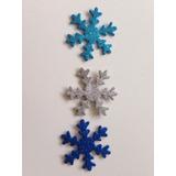 50 Flocos De Neve Frozen 5cm Eva C Glitter Frete 7,80