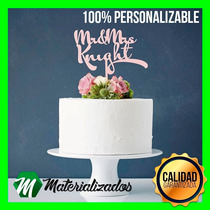 Cake Topping Pastel Top Acrilico Boda Xv Años Personalizado
