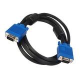 Cable Vga 1.5 Metros Macho A Macho Puntas Azul Envio Gratis