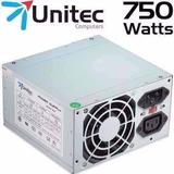 Fuente De Poder Atx Unitec 750 Watts Para Pc