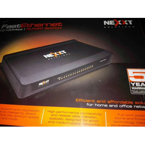 Switch 16 Puertos Fast Ethernet Nexxt Solutions