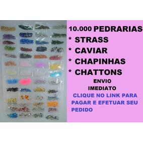 10 Mil Pedrarias Meia Pérolas Olho Gato Strass Unhas 80 Pcts