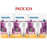 Pack X 24 Bombillo Led Bulb 7w Luz Amarilla E27