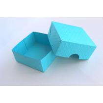 Caixa Para Bem Casado Azul Tiffany 7x3x7cm Papel Color Plus