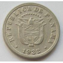 Panama Moneda 5 Centesimos De Balboa Año 1932 Km # 9 Escasa