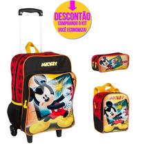 Kit Escolar Mochila Rodinhas Disney Michey 64469g - Catmania