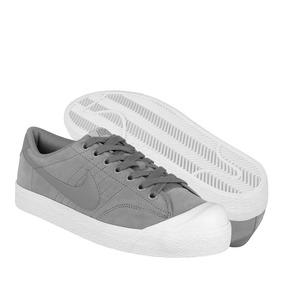 Tenis Casuales Nike Para Hombre Gamuza Gris 407732006