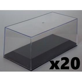 Tapa Acrilica + Base Plastica Apilables!!! 1/43 X20 Unidades