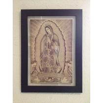Virgen De Guadalupe Dibujada Con Tinta China.