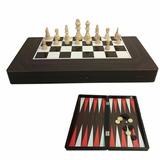 Ajedrez Damas Backgammon 3 En 1