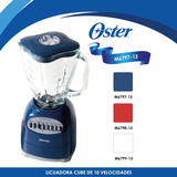 Licuadora 10 Velocidades Cube Color Azul Oster 6797-13