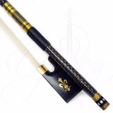 Arco De Violino Fibra De Carbono 4/4 C/ Fio De Ouro