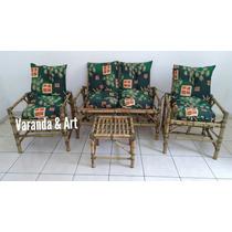 Sofá De Bambu Jogo De Vime Completo Cadeiras Poltronas