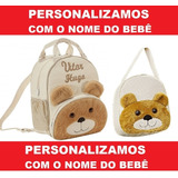 Mochila Infantil Personalizada Ursinho Menino - Bebê - G E P