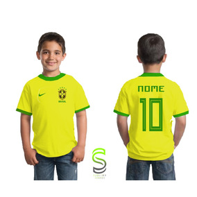 b4bc8c2d1b Camisa Do Brasil Infantil Personalizada - Camisetas e Blusas no ...