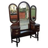 Penteadeira Antiga Estilo Luis Xvi Espelhos Bisote