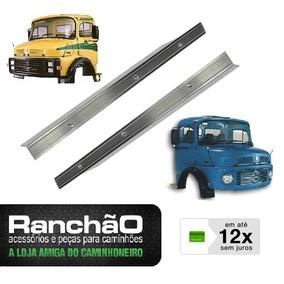 Par Friso Porta Tapete Caminhão Mb 1113 1114 2013 Aluminio