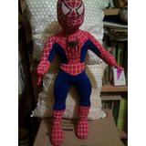 Muñeco Spiderman De Tela Blando Hombre Araña 56 Cm