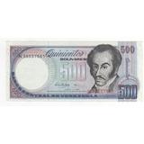 Billete 500 Bolívares Junio 5 Del 1995 Sin Circular