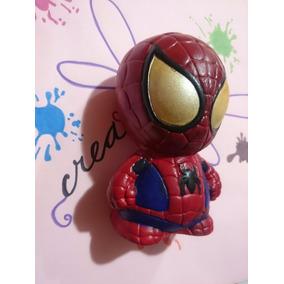 Alcancia Hombre Araña Super Heroe Ceramica 15cm Recuerdo 5pz