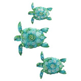Arte De La Pared De Metal Regal Art & Gift Sea Turtle Beach