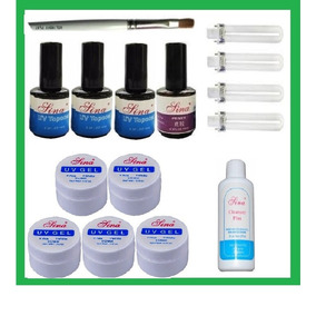 Kit Lâmpadas Cabine Uv, Top Coat, Prime Gel, Pincel Cleanser