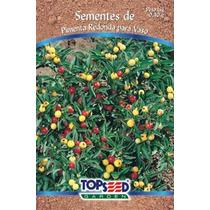 Sementes De Pimenta Redonda Para Vasos 0,40g Top Seed