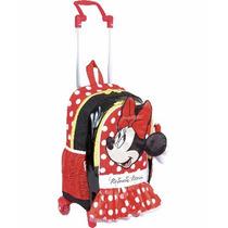 Mochila Minnie Mouse Sainha Lançamento 2017 Rodinhas