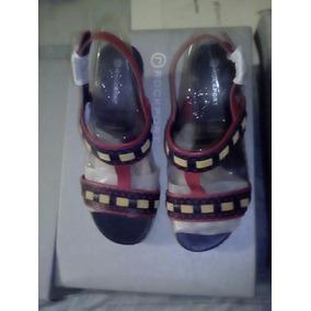 Sandalias Originales Damas Rockport C/ Detalles Rojo V73377