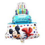Globo Metalizado Minnie Mickie Torta Cumpleanos Cup Cake Amo