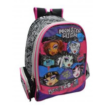 Bolso Morral Grande Monster High Original Matel Capi Escolar