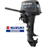 Motor De Popa Suzuki 15hp Dt15a 2t - Pronta Entrega