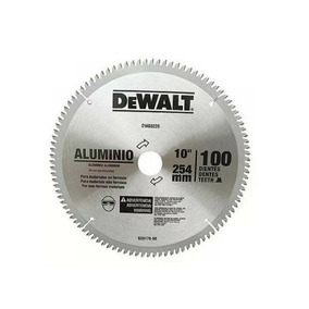 Disco De Serra Para Alumínio 10 100 Dentes Dw03220 Dewalt