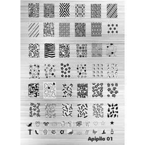 Placa Para Carimbo De Unha A01