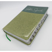 Bíblia Letra Gigante Sbb Verde Oliva + Índice + Capa Brinde
