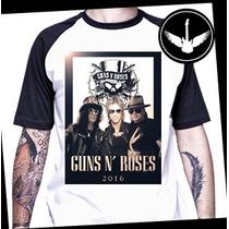 Camiseta Ou Baby Look Guns N`roses Turnê 2016 Axl Slash Duff