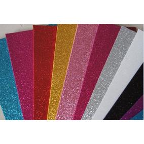 6 Pct C/5 Folhas De Eva C/ Gliter 40x60 - Make+ (cores)
